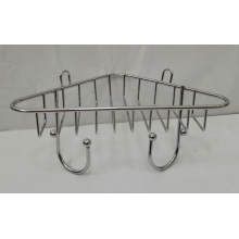 Chrome Corner Rack With Two Hooks