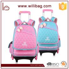 Nouveau sac détachable à roulettes d'école de chariot à roulettes d'enfants