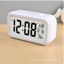 Relógio LCD com calendário digital com luz de fundo (LC830D)