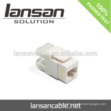 Cat5E/Cat6/Cat6AUTP Keystone Jack for RJ45 Cable