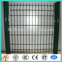 green power coated wire mesh fence metal grid
