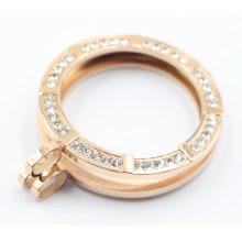 Luxry Memória Locket com Ajuste Swarovski Stones for Gift
