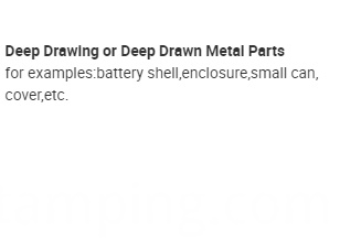 deep drawing deep drawn stamping