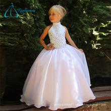 Organza Satin Crystal Ball Gowns Simple Flower Girl Dresses