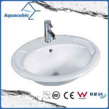 Bassin de salle de bains au-dessus de l'évier en céramique de compteur (ACB023)