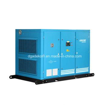 Compresor de aire eléctrico estacionario de tornillo de dos etapas lubricado (KE132-10II)