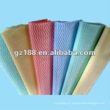 Tissu non tissé simple de Spunlace (teint) pour essuyer