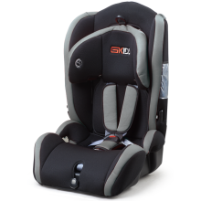 Child car seat with orange grey covers