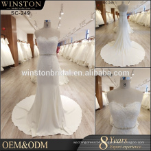 2017 fashion style mermaid wedding dress bridal gown with sleeves