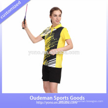 Newest fashionable badminton uniforms sets, wholesale volleyball jerseys wholesale badminton wear