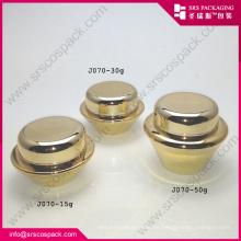 Venta al por mayor 15ml 30ml 50ml de lujo de oro vacía crema de acrílico frascos cosméticos