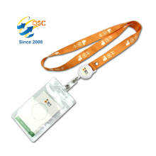 Heat Transfer Adjustable Sublimation Lanyard With Id Card Holder