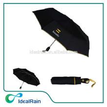 21inch plastic handle automatic promotional foldable umbrella