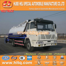 SHACMAN 4x2 10000L suction dung truck 270hp Weichai Power