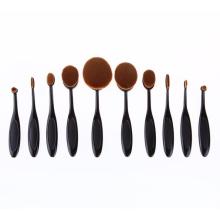 Овальный набор для макияжа с черным / розовым золотом (TOOL-86)