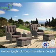3pcs Outdoor Set Aluminum Frame PErattan Furniture