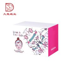 Nueva caja de cartón corrugado de la imagen plegable directa colorida de la fábrica del diseño