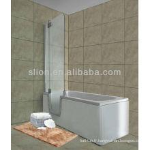 Nouveau style acrylique walk in bathtub pour personnes âgées et handicapés de forme rectangulaire