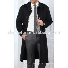 завод оптовая продажа длинные стиль зима 100% чистый кашемир мужчин пальто