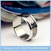 Anéis pretos com anel de titânio dragão para homens jóias de aço inoxidável yiwu