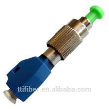 FC -LC macho a hembra adaptador de fibra óptica