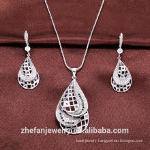 Cubic Zircon jewelry sets nigerian wedding beads jewelry professional designer