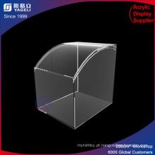 Caixa de exposição de acrílico superior quadrada curvada