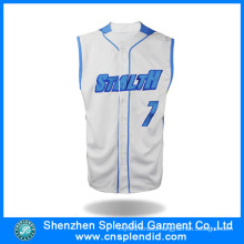 Fashion Clothing Breathable Microfiber Mens Baseball Jerseys with Print Logo