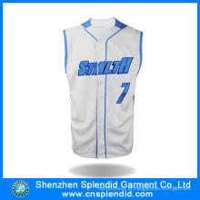 Personalizado Azul Baseball Jersey Baseball T-shirts Atacado