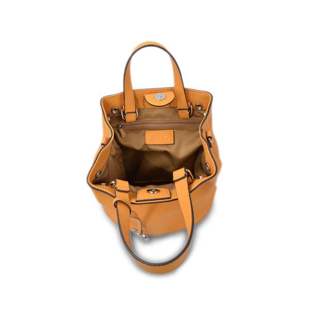 Fashionable drawstring bucket bag is durable