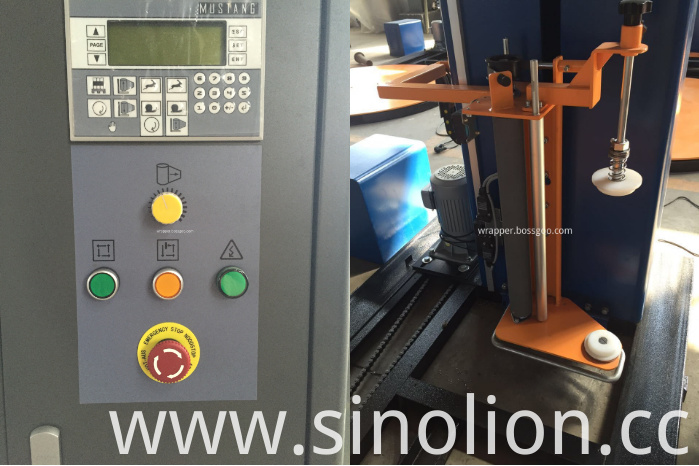 Factory Sale Pallet Wrapping Machine (control panel and film carriage)
