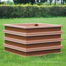 Alta caja de madera de plástico compuesto de la caja de la flor de WPC del compuesto 500 * 500 * 450 de Quanlity