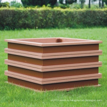 High Quanlity Wood Plastic Composite / WPC Цветочная коробка 500 * 500 * 450