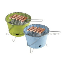 Bucket Shape Charcoal BBQ Grill, Bucket BBQ Stove