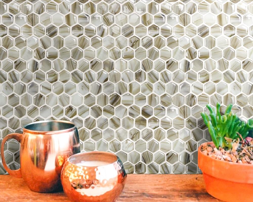 Rounded Edge Hot Melt Glass Mosaic