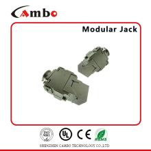 China Fabricación FTP 180 grados sin herramientas RJ45 Cat6a Keystone Jack Precio competitivo
