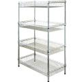 Professional customized Adjustable Epoxy Wire Shelves chromed wire shelf rack Sturdy Metal Wire shelf