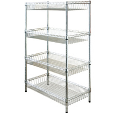 Wholesale good quality cheap wire storage rack,wire closet shelving,wire shelving for closets,wire shelf