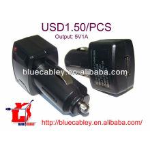 Cargador de coche USB 5V1A para iPhone 5
