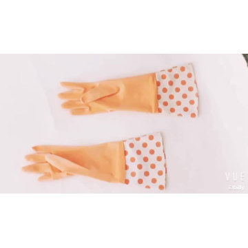 Household Cheap Good Use 38*16.5 Cleaning Plastic Orange Rubber Worker Hand Gloves