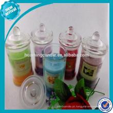 100% Natural Vela perfumada de soja em vidro Jar