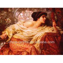 Dekorative sexy Frauen Malerei Leinwand