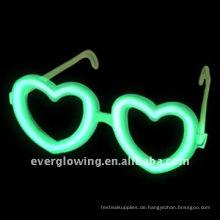 Herz-Leuchtstab-Brillen