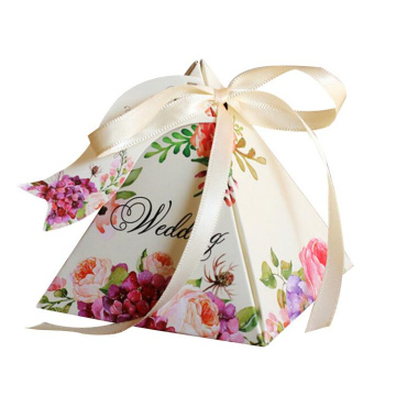 Fancy Paper Wedding Candy Box Cajas de regalo