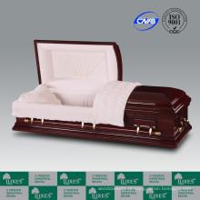 LUXES estilo americano folheado caixão caixão para caixões Funeral_China fabrica