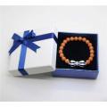 Red Aventurine Gemstone Bracelet with Diamante bow tie Alloy Piece