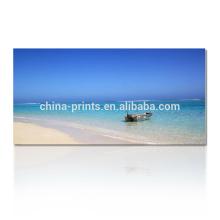 Beach Boat Canvas Art Print / Seascape Домашний декор Настенное искусство / Ландшафтный декор стен Изобразительное искусство