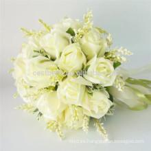 Nupcial celebración de alta calidad al por mayor artificial coloreado hermoso ramo de la boda