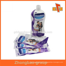 Low price custom plastic heat shrink bands for shampoo bottles hot for 2015