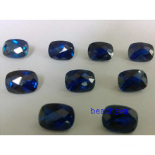 Synthetic Sapphire Cushion Checkbord Cut Loose Gemstone
